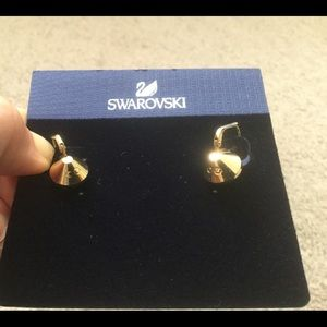 Authentic Swarovski Crystal Gold Tone Earrings